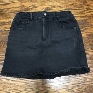 zara kids black denim skirt size girls 10